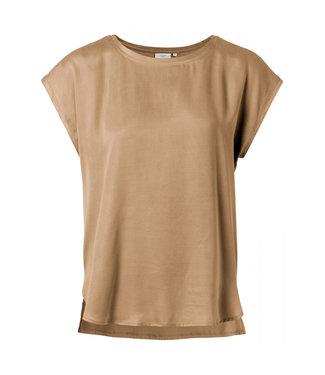 Yaya T-shirt with rounded hems SAND 1901116-021