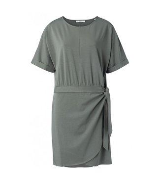 Yaya Modal cotton blend wrap dress DARK OLIVE 1809255-021