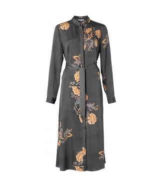 Yaya Maxi shirt dress with belt DARK OLIVE 1801267-021