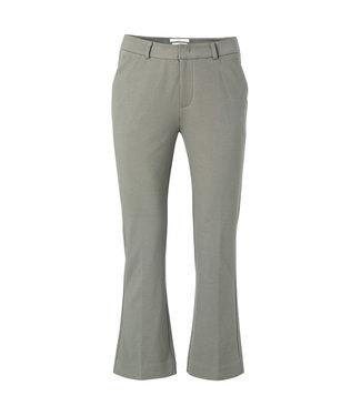 Yaya 7/8 length kick flare trousers DARK OLIVE 121163-021