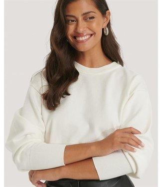 NA-KD Shape waist sweater off white 1018-004601