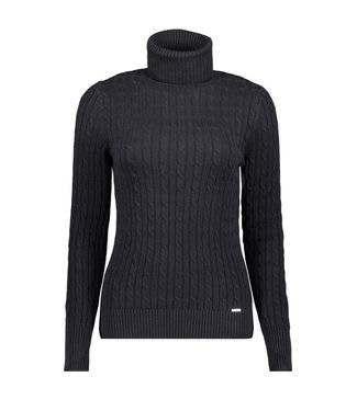 Superdry Croyde cable roll neck zwart W6110058A