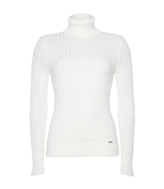 Superdry Croyde cable roll neck off white W6110058A