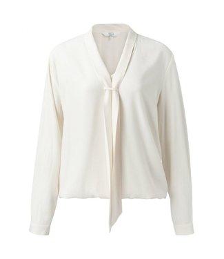 Yaya Top with scarf collar WHITE SAND 1901305-021