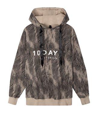 10Days Hoodie zebra zand 20-813-0203