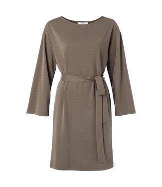 Yaya Dress with 3/4 sleeves CHOCOLATE 1809244-022