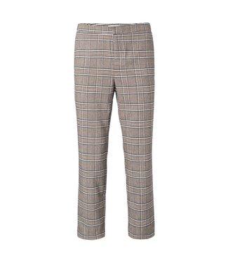 Yaya Trousers with checks CHOCOLATE 121165-022