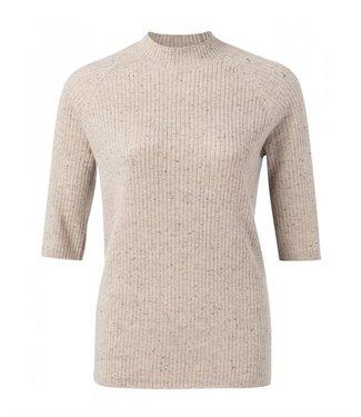 Yaya Wool blend sweater with stitch Jet Black 1000313-022