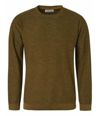 No Excess Pullover Crewneck Slub Stone Washed Moss 97230801SN