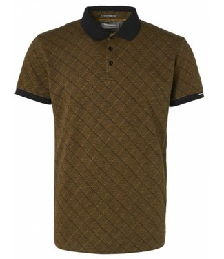 No Excess Polo Short Sleeve Multi Color Jacquard gold 97380751