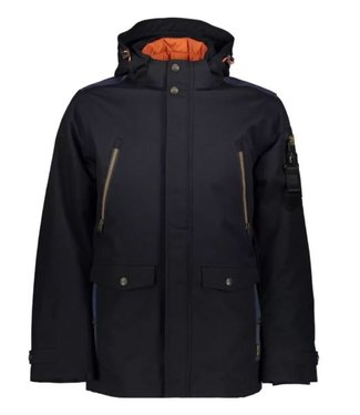 PME Legend Hooded jacket COURSE TWILL + WIBER Navy PJA205121