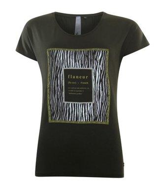 Poools T-shirt flaneur groen 033191