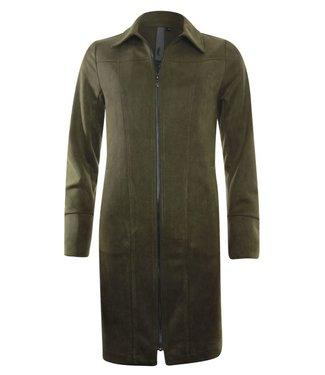Poools Dress zip groen 033195