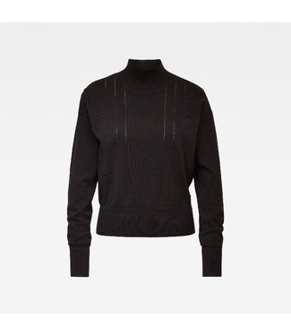 G-Star Core mock knit wmn l/s zwart D17673-C560-6484