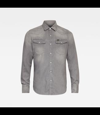 G-Star 3301 slim shirt l/s grijs D17517-B497-B793