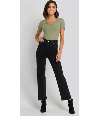 NA-KD Straight high waist jeans zwart 1100-001961