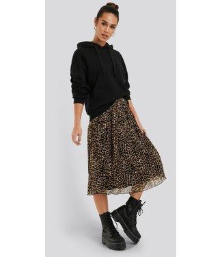 NA-KD Pleated midi skirt bruin 1100-001282