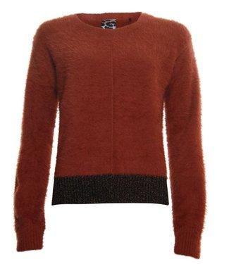 Poools Sweater lurex part rood 033241
