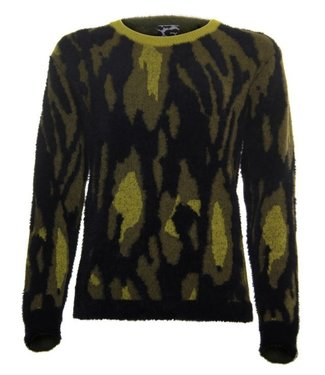 Poools Sweater jaquard zwart 033208