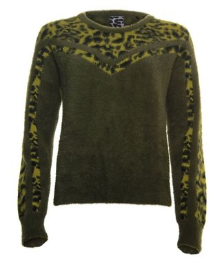 Poools Sweater contrast groen 033164