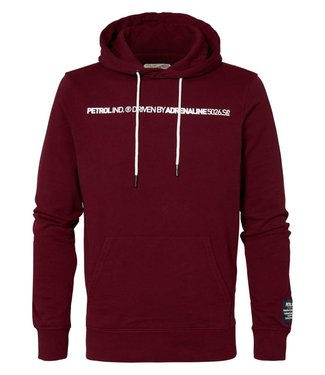 Petrol Industries Sweater hooded rood M-3000-SWH341