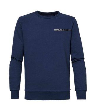Petrol Industries Sweater R-neck blauw M-3000-SWR373