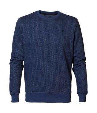 Petrol Industries Sweater r-neck blauw M-3000-SWR333