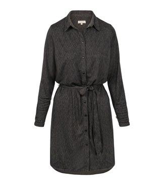 Zusss Blouse jurk met print antraciet