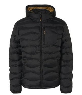 No Excess Jacket Hooded Padded Wavy Quilted black 97630815SN