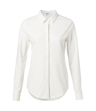 Yaya Jersey cotton blend shirt PURE WHITE 1109150N