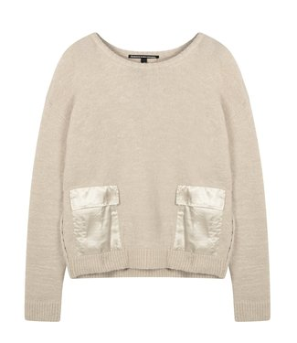 10Days Sweater pockets zand 20-617-0203