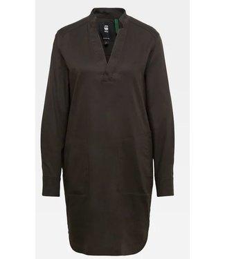 G-Star Milary shirt dress donkergroen D18637-C415-976