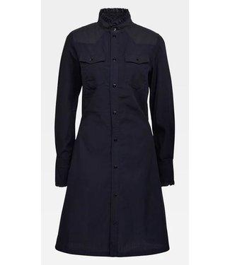 G-Star Western slim frill dress donkerblauw D17538-8349-082