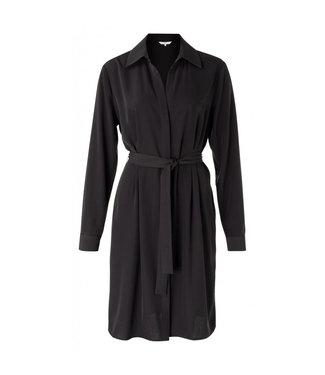 Yaya Belted button up midi dress PHANTOM 1801200-023