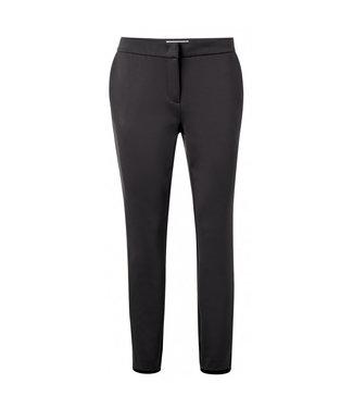 Yaya Jersey trousers with zippers PHANTOM 121949-023