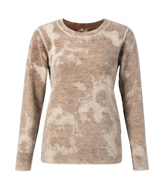 Yaya Sweater with inside out print BEIGE MELANGE 1000339-023