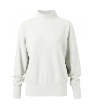 Yaya Brushed high neck sweater WOOL WHITE 1000337-023