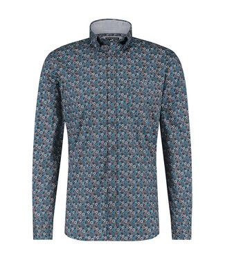 State of Art Shirt Printed Pop grijsblauw 214-20308-5659