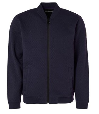 No Excess Sweater Full Zip Jacquard night 97100935