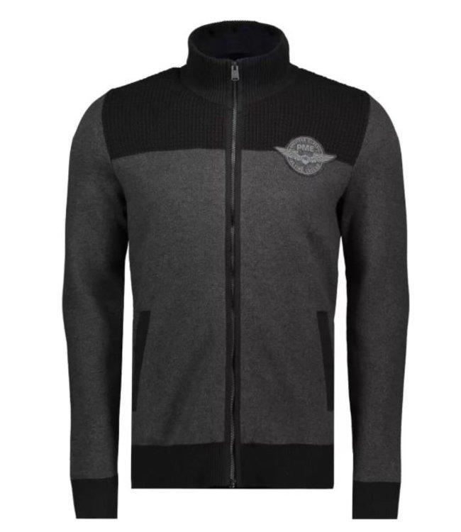 PME Legend Zip jacket cotton double knit Antracite Melee PKC206357