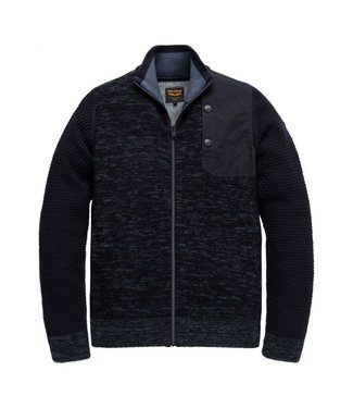 PME Legend Zip jacket wool mix knit Night Sky PKC206361