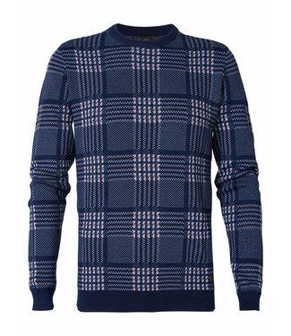 Petrol Industries Knitwear r-neck donkerblauw M-3000-KWR227