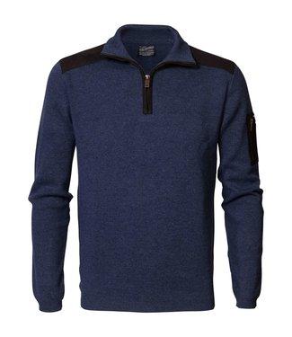 Petrol Industries Knitwear collar donkerblauw M3000-KWC254
