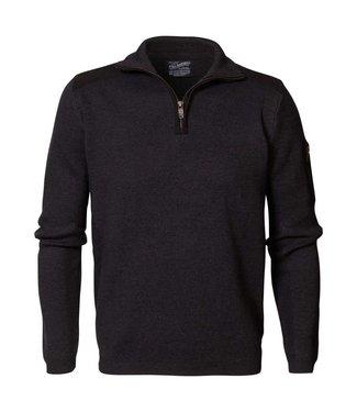 Petrol Industries Knitwear collar zwart M3000-KWC254