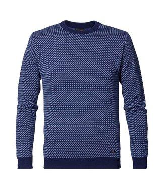 Petrol Industries Knitwear r-neck donkerblauw M-3000-KWR255