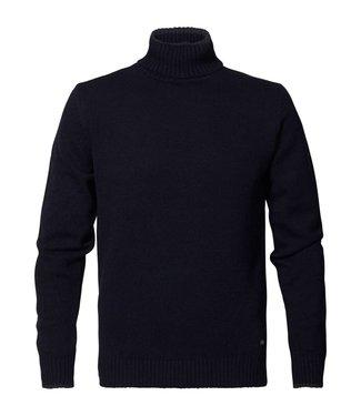 Petrol Industries Knitwear collar donkerblauw M-3000-KWC222