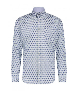 State of Art Shirt Printed Poplin kobalt 214-20238-5751