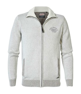 Petrol Industries Knitwear cardigan off white M-3000-KWC216