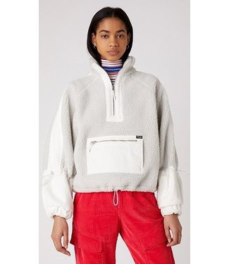 Wrangler Denim sherpa pop over off white W4R4YAXKH