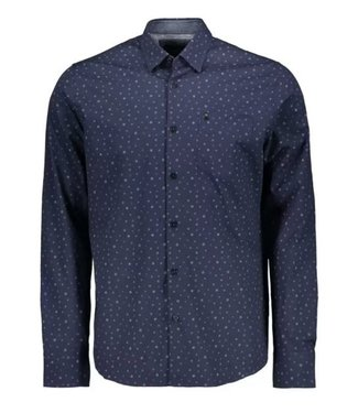 Vanguard Long Sleeve Shirt Print on poplin Medieval Blue VSI206220